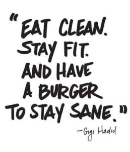 Eat Clean Stay Fit eat the burger